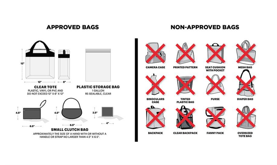 MILITARY BOWL PRESENTED BY NORTHROP GRUMMAN, Clear Bag Policy